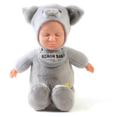 Simulation Reborn Doll Toy in Pig Style Clothes