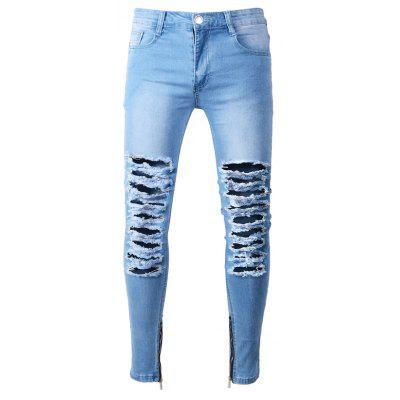 Fashion Slim Fit Jeans mit beunruhigten Details