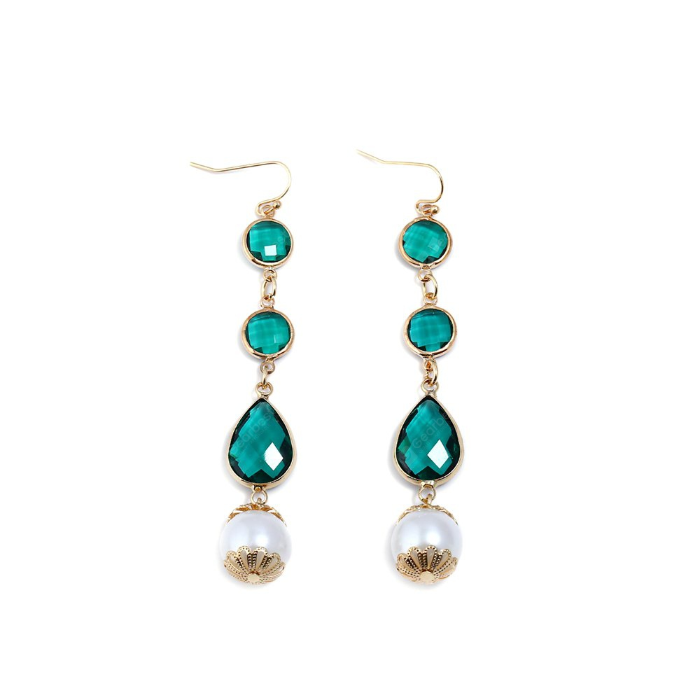 Novelty Exquisite Women Pearl Crystal Pendant Earrings