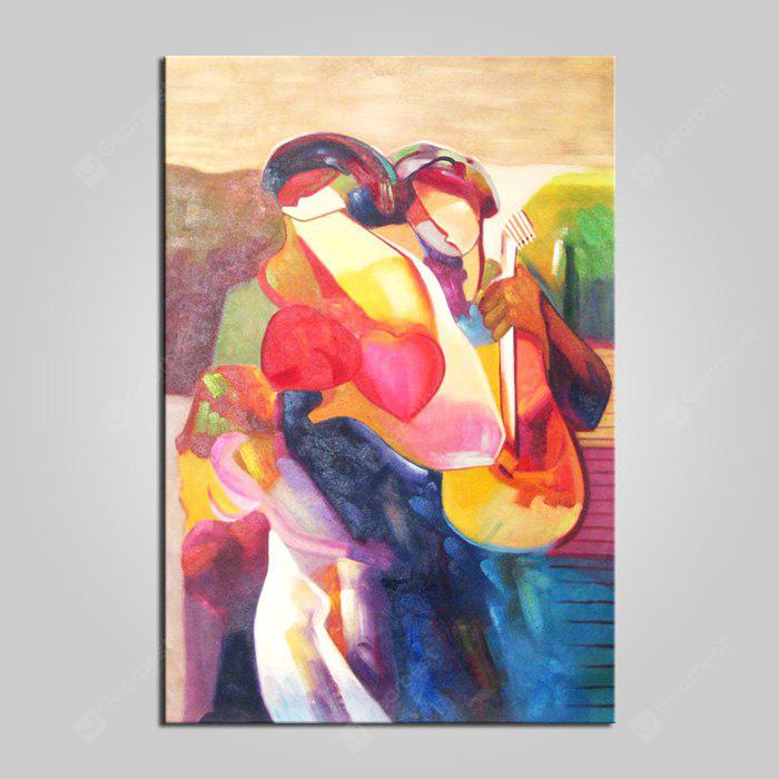 COLORMIX ART Hand Painted Abstract Style Colorful Figure Oil Painting