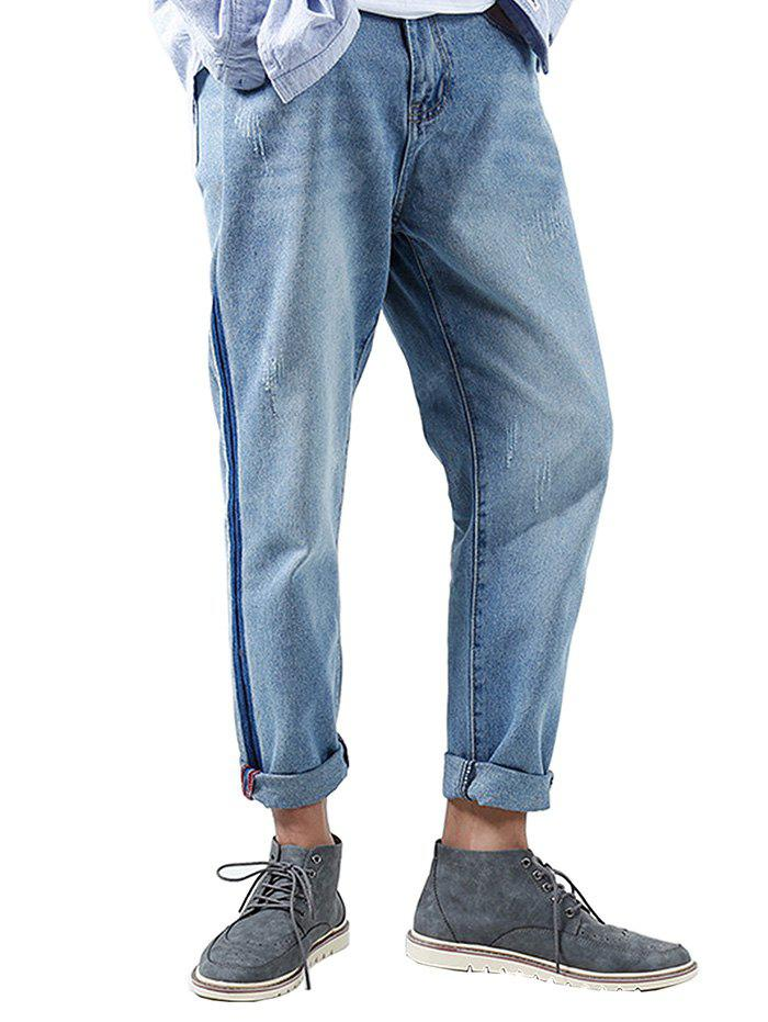 Stylish Loose Fit Rippe Jeans