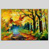 HuaTuo Golden Trees Hand Painted Oil Painting - COLORMIX