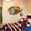 Buy LAIMA 3D Excavator Wall Sticker Home Decoration COLORFUL