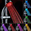 LED Seven Colors Changing Bathroom Showerhead - SILVER