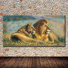 Mintura Unframed Prints Modern Canvas Lions Wall Art - COLORMIX