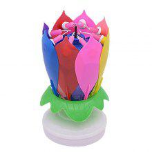 9 OFF Electric Birthday Candle Music Lotus Flower For Cake