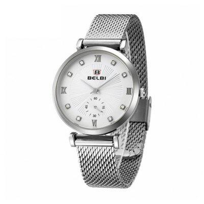 BELBI 5813 Casual Women Steel Mesh Bracelet Watch