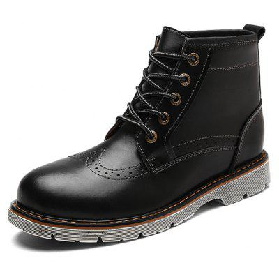 Male Business Nostalgic Soft High Top Casual Leather BootsMens Boots<br>Male Business Nostalgic Soft High Top Casual Leather Boots<br><br>Closure Type: Lace-Up<br>Contents: 1 x Pair of Shoes, 1 x Box, 1 x Piece of Dustproof Paper<br>Function: Slip Resistant<br>Materials: Rubber, Leather<br>Occasion: Tea Party, Shopping, Rainy Day, Outdoor Clothing, Office, Party, Casual, Daily, Holiday<br>Outsole Material: Rubber<br>Package Size ( L x W x H ): 33.00 x 24.00 x 13.00 cm / 12.99 x 9.45 x 5.12 inches<br>Package Weights: 1.00kg<br>Pattern Type: Solid<br>Seasons: Autumn,Spring<br>Style: Modern, Leisure, Fashion, Comfortable, Casual, Business<br>Toe Shape: Round Toe<br>Type: Boots<br>Upper Material: Leather