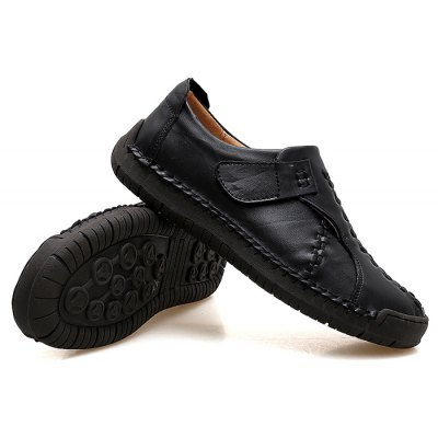 Male Trendy Soft Velcro Decorative Casual Oxford ShoesMen's Oxford<br>Male Trendy Soft Velcro Decorative Casual Oxford Shoes<br><br>Closure Type: Slip-On<br>Contents: 1 x Pair of Shoes, 1 x Box, 1 x Piece of Dustproof Paper<br>Function: Slip Resistant<br>Materials: Rubber, Genuine Leather<br>Occasion: Tea Party, Shopping, Office, Holiday, Daily, Casual, Party<br>Outsole Material: Rubber<br>Package Size ( L x W x H ): 33.00 x 24.00 x 13.00 cm / 12.99 x 9.45 x 5.12 inches<br>Package Weights: 0.90kg<br>Pattern Type: Solid<br>Seasons: Autumn,Spring<br>Style: Modern, Leisure, Fashion, Comfortable, Casual, Business<br>Toe Shape: Round Toe<br>Type: Casual Leather Shoes<br>Upper Material: Genuine Leather