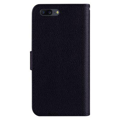 PU Leather Lichee Grain Wallet Stand Phone Case for OnePlus 5 mercury goospery milano diary wallet leather mobile case for iphone 7 plus 5 5 grey