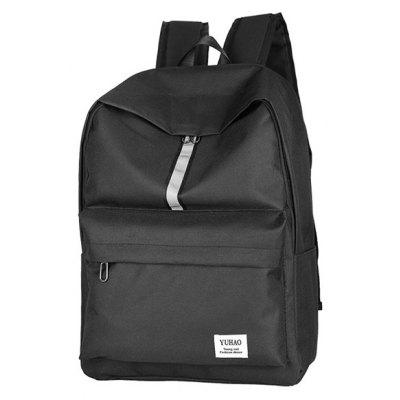 Buy BLACK Men Simple Nylon Laptop Backpack for $9.67 in GearBest store