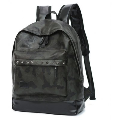 Buy ACU CAMOUFLAGE Men Trendy PU Laptop Backpack for $13.60 in GearBest store