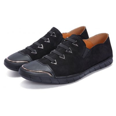 Male Soft Thin Light Contrasting Lace Casual Oxford Shoes