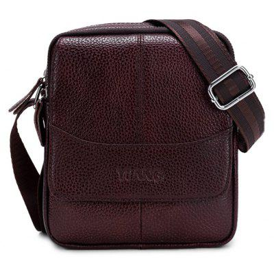New Multifunctional Genuine Leather Zipper Singer-shoulder Bag for Men with High-capacity