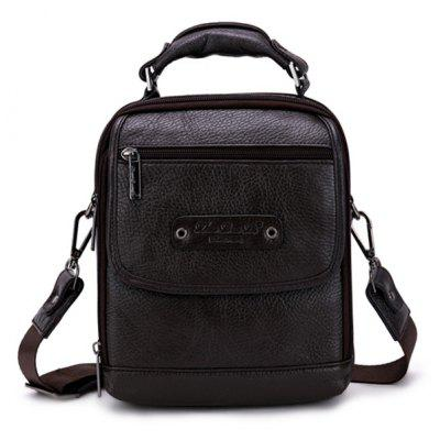 New Style Multifunctional Genuine Leather Zipper Singer-shoulder Bag for Men with High-capacity
