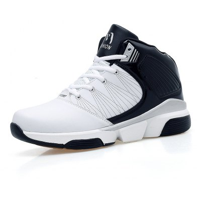 Men Stylish Shockproof Lace-up Athletic ShoesAthletic Shoes<br>Men Stylish Shockproof Lace-up Athletic Shoes<br><br>Closure Type: Lace-Up<br>Contents: 1 x Pair of Shoes<br>Materials: PU, Rubber, Microfiber Leather<br>Occasion: Sports<br>Outsole Material: PU,Rubber<br>Package Size ( L x W x H ): 33.00 x 24.00 x 13.00 cm / 12.99 x 9.45 x 5.12 inches<br>Package Weights: 0.9500kg<br>Product Weights: 0.8800kg<br>Seasons: Autumn,Spring,Winter<br>Style: Comfortable<br>Toe Shape: Round Toe<br>Type: Sports Shoes<br>Upper Material: Microfiber Leather