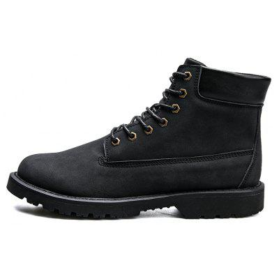 Men Solid Color Stitching Ankle Marten BootsMens Boots<br>Men Solid Color Stitching Ankle Marten Boots<br><br>Closure Type: Lace-Up<br>Contents: 1 x Pair of Boots<br>Materials: PU, Rubber<br>Occasion: Holiday, Daily, Casual<br>Outsole Material: Rubber<br>Package Size ( L x W x H ): 33.00 x 24.00 x 13.00 cm / 12.99 x 9.45 x 5.12 inches<br>Package Weights: 1.0000kg<br>Pattern Type: Solid<br>Product Weights: 0.8000kg<br>Seasons: Autumn,Spring,Winter<br>Style: Leisure, Fashion<br>Toe Shape: Round Toe<br>Type: Boots<br>Upper Material: PU