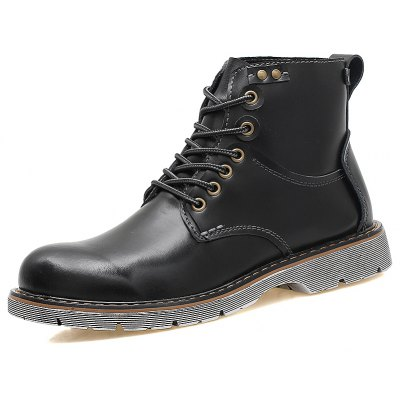Men Stylish Warm Leather High Marten BootsMens Boots<br>Men Stylish Warm Leather High Marten Boots<br><br>Closure Type: Lace-Up<br>Contents: 1 x Pair of Boots<br>Decoration: Split Joint<br>Materials: Rubber, Leather<br>Occasion: Daily, Holiday<br>Outsole Material: Rubber<br>Package Size ( L x W x H ): 33.00 x 24.00 x 13.00 cm / 12.99 x 9.45 x 5.12 inches<br>Package Weights: 1.1000kg<br>Pattern Type: Solid<br>Product Weights: 0.9000kg<br>Seasons: Autumn,Spring,Winter<br>Style: Leisure, Fashion, Comfortable<br>Toe Shape: Round Toe<br>Type: Boots<br>Upper Material: Leather