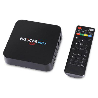 MXR PRO RK3328 TV BoxTV Box<br>MXR PRO RK3328 TV Box<br><br>Antenna: Yes<br>Bluetooth: Bluetooth4.0<br>Core: 2.0GHz, Quad Core<br>CPU: ARM Cortex-A53<br>Decoder Format: H.265<br>DVD Support: No<br>GPU: Mali-450<br>HDMI Function: CEC<br>HDMI Version: 2.0<br>Interface: DC Power Port, SD Card Slot, USB2.0<br>Language: English<br>Max. Extended Capacity: 64G<br>Model: MXR PRO<br>Other Functions: 3D Video, DLNA, Miracast, 3D Games<br>Package Contents: 1 x TV Box, 1 x Remote Control, 1 x Power Adapter, 1 x English User Manual, 1 x HDMI Cable<br>Package size (L x W x H): 21.00 x 14.00 x 6.00 cm / 8.27 x 5.51 x 2.36 inches<br>Package weight: 0.4000 kg<br>Photo Format: JPEG, TIFF, PNG, GIF, BMP<br>Power Supply: Charge Adapter<br>Power Type: External Power Adapter Mode<br>Processor: RK3328<br>Product size (L x W x H): 12.00 x 12.00 x 2.40 cm / 4.72 x 4.72 x 0.94 inches<br>Product weight: 0.3800 kg<br>RAM: 4G RAM<br>RAM Type: DDR3<br>RJ45 Port Speed: 100M<br>ROM: 32G ROM<br>Support 5.1 Surround Sound Output: Yes<br>System: Android 7.1<br>System Activation: Yes<br>System Bit: 64Bit<br>TV Box Features: 5.1 Surround Sound Output,Portable<br>Type: TV Box<br>Video format: 4K<br>WiFi Chip: RTL8723