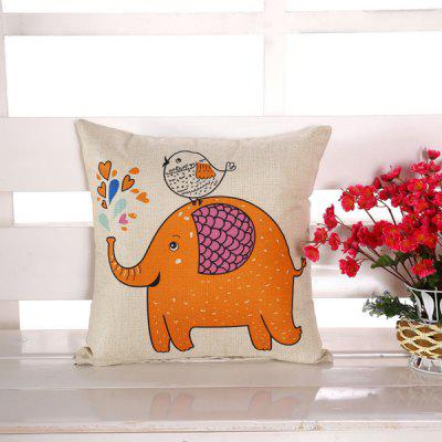 LAIMA Square Pillowcase Cute Elephant Pattern Pillow Cover