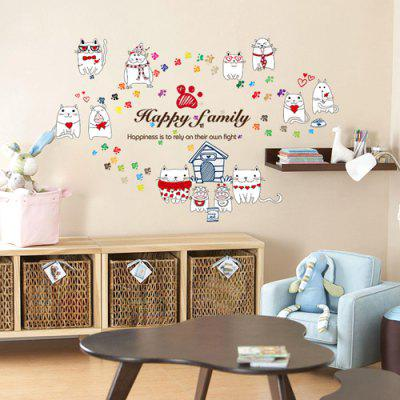 Buy LAIMA Cute Cat Pattern Wall Sticker, COLORFUL, Home & Garden, Home Decors, Wall Art, Wall Stickers for $7.08 in GearBest store