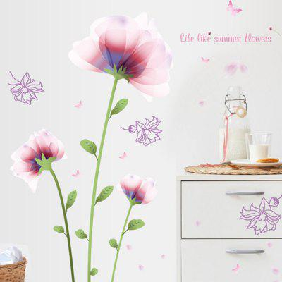Buy LAIMA QT0473 Romantic Pink Flower Wall Sticker, COLORFUL, Home & Garden, Home Decors, Wall Art, Wall Stickers for $9.09 in GearBest store