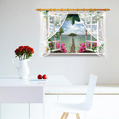 Buy LAIMA 3D Effect Island Wall Sticker, COLORFUL, Home & Garden, Home Decors, Wall Art, Wall Stickers for $9.09 in GearBest store