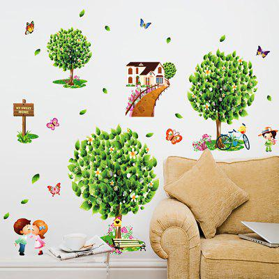 LAIMA Green Homeland Wallpaper Removable Waterproof Wall Sticker Home Decoration