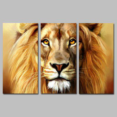 Buy GOLDEN JOY ART Canvas Print Modern Stretched Lion Pattern 3PCS for $44.23 in GearBest store