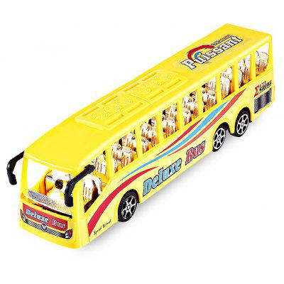 Buy YELLOW Simulation Solid Color Seat Inertia Bus Toy for Kids for $8.40 in GearBest store