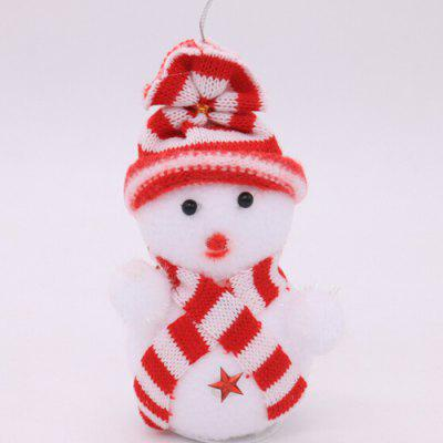 Christmas Decorative Snowman Pattern Ornament 1pc