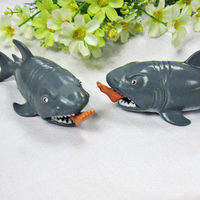 Rubber Tricky Toy with Shark Style 1PC