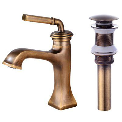 LINGHAO HL - 246 Pure Brass Bathroom Basin FaucetFaucets<br>LINGHAO HL - 246 Pure Brass Bathroom Basin Faucet<br><br>Battery Included: No<br>Body Sprays Included: No<br>Brand: LINGHAO<br>Cold and Hot Switch: Yes<br>Drain Included: Yes<br>Faucet Body Material: Brass<br>Faucet center: Single Hole<br>Faucet Features: Easy Install,Easy to use<br>Faucet Spout Material: Brass<br>Faucet Type: Bathroom Sink Faucet<br>Handle Material: Brass<br>Handshower Included: No<br>Handshower Material: Brass<br>Home Finish: Antique Brass<br>Installation Hole Diameter ( cm ): 3.2 - 3.5cm<br>Installation Holes Handles: Single Handle One Hole<br>Installation Type: Centerset<br>Package Contents: 1 x Pack of Stationary Fittings, 2 x Water Inlet Pipe, 1 x Drainer, 1 x English User Manual<br>Package size (L x W x H): 37.00 x 18.00 x 7.00 cm / 14.57 x 7.09 x 2.76 inches<br>Package weight: 1.5000 kg<br>Product weight: 1.4000 kg<br>Rain Shower Included: No<br>Rain Shower Material: Brass<br>Shower Arm Included: No<br>Style: Retro<br>Valve Included: Yes<br>Valve Type: Ceramic Valve<br>Water Pressure: 12