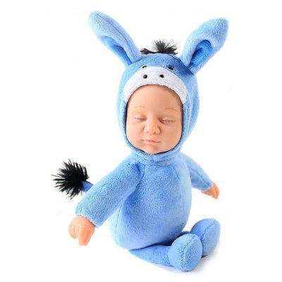 Plush Stuffed Doll Toy Cute Baby with Donkey Pattern Cloth