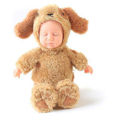 Plush Stuffed Doll Toy Cute Baby with Dog Pattern Cloth