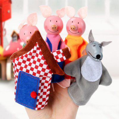 Finger Puppet with Cartoon Pig Style 5PCS