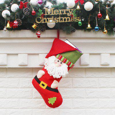 Santa Claus Sock Shape Christmas Ornaments PendantChristmas Supplies<br>Santa Claus Sock Shape Christmas Ornaments Pendant<br><br>For: All<br>Material: Nonwoven<br>Package Contents: 1 x Christmas Decoration<br>Package size (L x W x H): 23.50 x 26.50 x 2.00 cm / 9.25 x 10.43 x 0.79 inches<br>Package weight: 0.1200 kg<br>Product weight: 0.1000 kg<br>Usage: Christmas