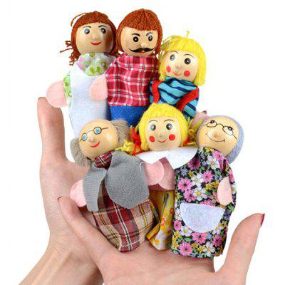 Creative Plush Finger Puppet with Family Member Image