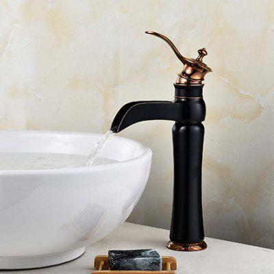 LING HAO HL - 345 Two Handles Three Holes Bathroom Faucet