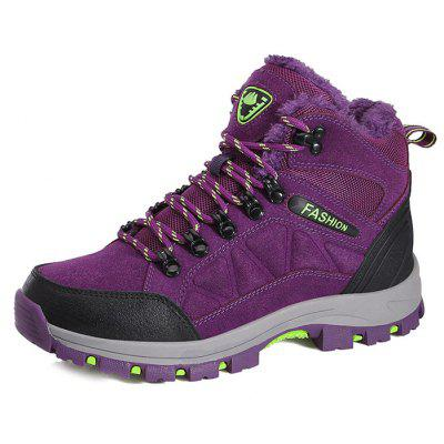 Buy PURPLE 39 Female Durable Soft Outdoor Warm Hiking Sneakers for $38.29 in GearBest store