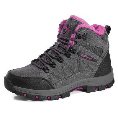 Buy DEEP GRAY 39 Female Durable Soft Outdoor Warm Hiking Sneakers for $38.29 in GearBest store