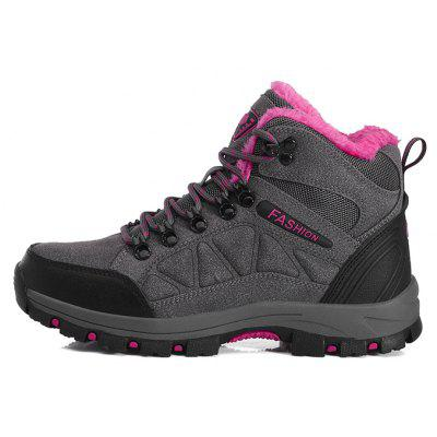 Female Durable Soft Outdoor Warm Hiking SneakersWomens Sneakers<br>Female Durable Soft Outdoor Warm Hiking Sneakers<br><br>Closure Type: Lace-Up<br>Contents: 1 x Pair of Shoes, 1 x Box, 1 x Piece of Dustproof Paper<br>Decoration: Split Joint<br>Function: Slip Resistant<br>Materials: Suede, Rubber<br>Occasion: Sports, Running, Riding, Outdoor Clothing, Holiday, Casual<br>Outsole Material: Rubber<br>Package Size ( L x W x H ): 33.00 x 24.00 x 13.00 cm / 12.99 x 9.45 x 5.12 inches<br>Package Weights: 0.95kg<br>Seasons: Autumn,Spring,Winter<br>Style: Modern, Leisure, Fashion, Comfortable, Casual<br>Toe Shape: Round Toe<br>Type: Hiking Shoes<br>Upper Material: Suede