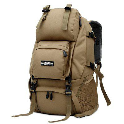 Buy KHAKI Outdoor Chic Durable Large Capacity Travel Backpack for $42.91 in GearBest store