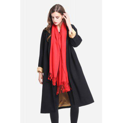 Single Breasted Notch Lapel Knee-length Trench for Women