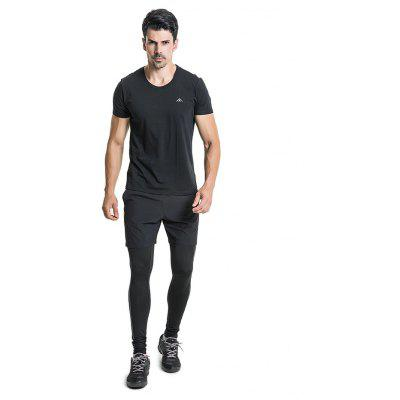 PolarFire Tight Elastic Sports Pants com Shorts para Homens