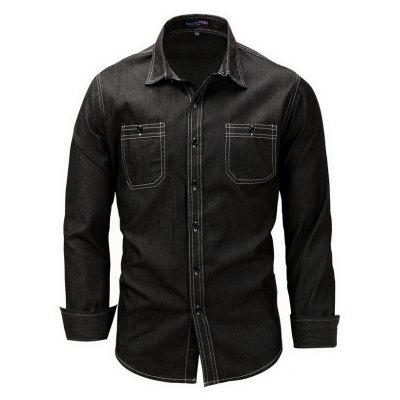 FREDD MARSHALL Casual Regular Fit Denim Shirt