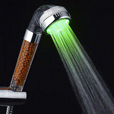 Colors Changing Temperature Control Shower Head with LED