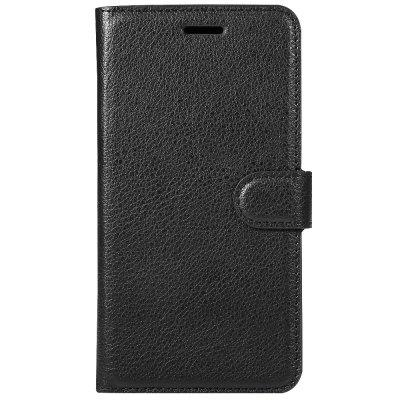 Solid Color Litchi Pattern Wallet Style Front Buckle Flip PU Leather Case with Card Slots for Xiaomi Redmi Note 4X