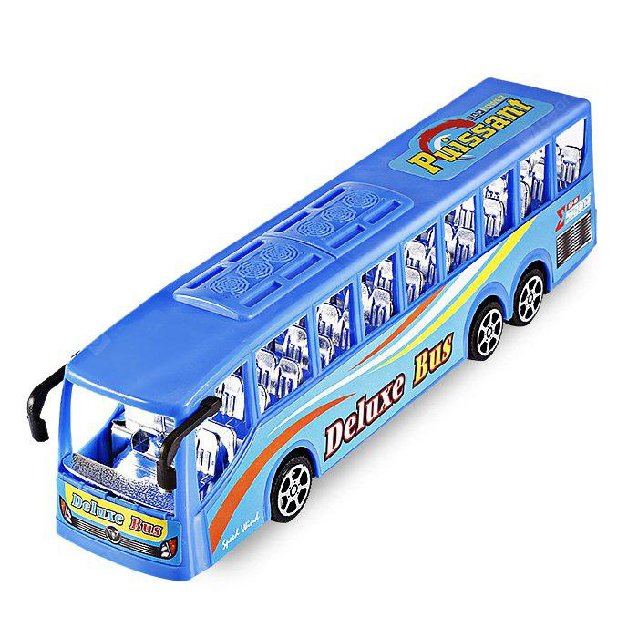 BLUE Simulation Solid Color Seat Inertia Bus Toy for Kids