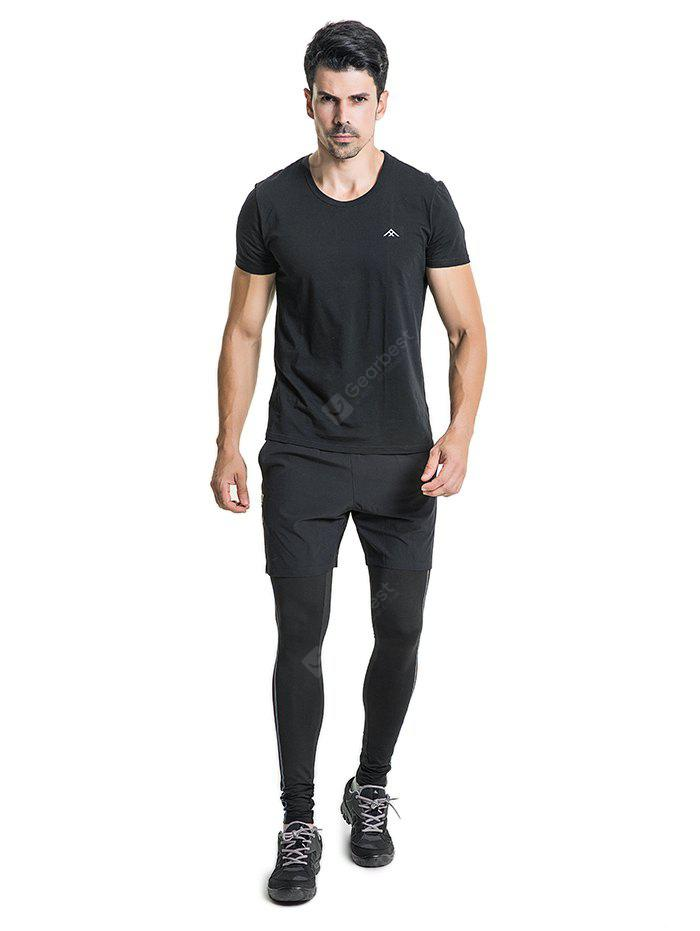 PolarFire Tight Elastic Sports Pants with Shorts for Men